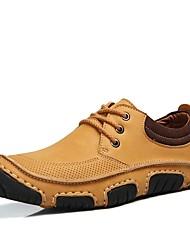 preiswerte -Herren Schuhe Echtes Leder Winter Herbst Komfort Sneakers für Normal Gold