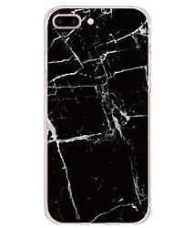 Недорогие -Кейс для Назначение Apple iPhone X / iPhone 8 Plus С узором Кейс на заднюю панель Слова / выражения / Мрамор Мягкий ТПУ для iPhone X / iPhone 8 Pluss / iPhone 8