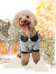 cheap -Dog Sweatshirt Jumpsuit Dog Clothes Stylish Keep Warm Trendy Striped Stripe Lips Black Costume For Pets