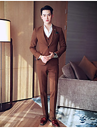cheap -Men's Suits - Solid Colored Notch Lapel