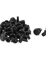 economico -30 pezzi 9mm x 5mm rivetto in plastica nera parafango parafango rivestimento clip di fissaggio del pannello