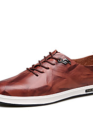 cheap -Men's Loafers & Slip-Ons Summer Fall Formal Shoes Comfort Leather Office & Career Casual Flat Heel Split Joint Camel Brown Black Walking