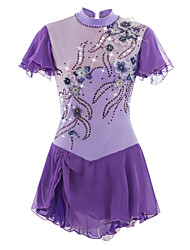cheap -Figure Skating Dress Women's / Girls' Ice Skating Dress Light Purple Spandex Rhinestone / Appliques High Elasticity Performance Skating