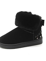 baratos -Mulheres Sapatos Couro Ecológico Outono Inverno Conforto Botas Salto Robusto Ponta Redonda Botas Curtas / Ankle para Preto Cinzento Verde