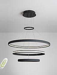 iluminação sem pingente iluminada por eletrodromo luzes pendentes simplicidade moderna três anéis sala quarto quarto lustre de restaurante