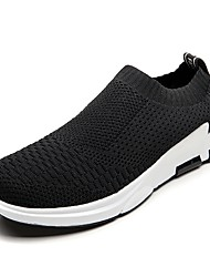 cheap -Men's Shoes Breathable Mesh PU Tulle Spring Summer Light Soles Comfort Loafers & Slip-Ons Walking Shoes Hollow-out for Casual Black