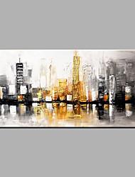 billige -Hang-Painted Oliemaleri Hånd malede - Abstrakt Moderne Lærred