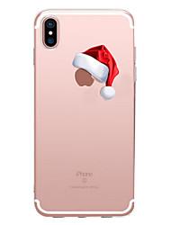 Недорогие -Кейс для Назначение Apple iPhone X / iPhone 8 Прозрачный / С узором Кейс на заднюю панель Рождество Мягкий ТПУ для iPhone X / iPhone 8 Pluss / iPhone 8