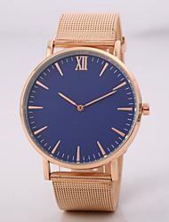 preiswerte -Herrn Damen Armbanduhren für den Alltag Modeuhr Armbanduhr Chinesisch Quartz N/A Legierung Band Elegant Minimalistisch Schwarz Rotgold