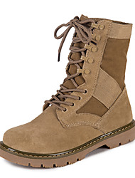 Недорогие -Жен. Обувь Дерматин Осень / Зима Армейские ботинки Ботинки На низком каблуке Круглый носок Ботинки Хаки
