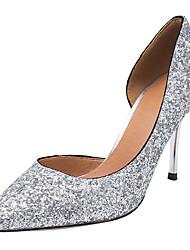 preiswerte -Damen Schuhe Paillette Frühling Herbst Pumps Neuheit High Heels Null Stöckelabsatz Spitze Zehe Null Paillette für Party & Festivität Kleid