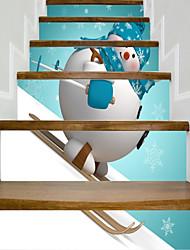 abordables -Noël Fantaisie Stickers muraux Caisson de Protection Autocollants avion Autocollants muraux 3D Autocollants muraux décoratifs
