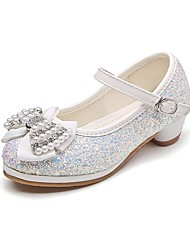 cheap -Girls' Shoes Glitter Spring & Summer Comfort / Flower Girl Shoes / Tiny Heels for Teens Heels Rhinestone / Bowknot / Imitation Pearl for