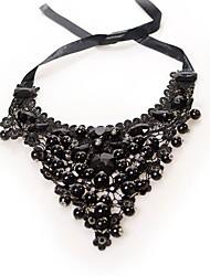 cheap -Women's Drop Classic Fashion Pendant Necklace Imitation Pearl Imitation Pearl Cloth Pendant Necklace , Party Ceremony