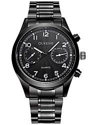 Pánské Módní hodinky Náramkové hodinky čínština Křemenný Voděodolné Nerez Kapela Na běžné nošení Černá