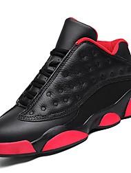 Masculino sapatos Borracha Primavera Outono Conforto Tênis Caminhada Botas Curtas / Ankle Cadarço de Borracha para Branco Preto/Vermelho