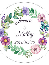 cheap -Floral/Botanicals Garden Theme Floral Theme Stickers, Labels & Tags - 10 Round Square Circular Unique Wedding Décor Envelope Sticker
