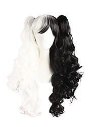 Недорогие -Парики из искусственных волос Волнистый С конским хвостом Искусственные волосы Черный Парик Жен. Длинные Без шапочки-основы