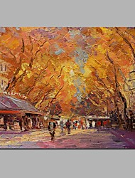 cheap -Oil Painting Hand Painted - Landscape Classical Canvas