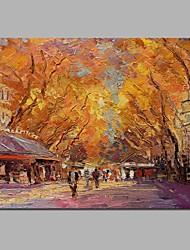 abordables -Peinture à l'huile Hang-peint Peint à la main - Paysage Classique Toile