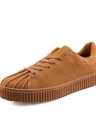baratos -Homens sapatos Borracha Primavera / Outono Conforto Tênis Marron / Vermelho / Azul