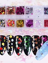 preiswerte -1set Art Deco / Retro Glänzend Weihnachten Pailletten Nagel Glitter Als Bild (Farbe variiert je nach Monitor) Nagel-Kunst-Design