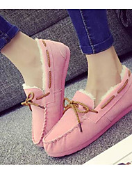 Women's Shoes Nubuck leather Spring Fall Comfort Boat Shoes Flat Heel for Casual Pink Brown Purple Gray Black
