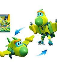 abordables -Robot Petits Bateaux Avion Chasseur Jouets Dinosaure Animal Animaux Véhicules Animaux Transformable Interaction parent-enfant Classique