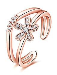 preiswerte -Damen Kubikzirkonia Zirkon Kupfer Stulpring - Kreisform Blume Formell Modisch Für Party Alltag