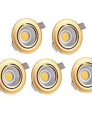 Недорогие -5 шт. 7W 700lm светодиоды LED даунлайт Тёплый белый Холодный белый AC 220-240V