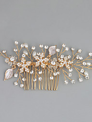 cheap -Imitation Pearl Rhinestone Alloy Hair Combs with Rhinestone Crystal Faux Pearl 1pc Wedding Special Occasion Headpiece
