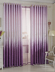 cheap -Grommet Top Double Pleat Pencil Pleat Curtain Modern Damask Living Room Polyester Blend Material Blackout Curtains Drapes Home Decoration