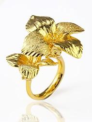 preiswerte -Herrn Damen Stulpring Statement-Ring , Blumig überdimensional Schmuck mit Aussage vergoldet Blume Modeschmuck Party Klub
