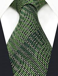 Недорогие -мужской партийный рабочий районный галстук - сплошной цветной полосатый жаккард