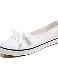 Недорогие -Жен. Обувь Полотно Весна / Лето Удобная обувь Мокасины и Свитер На плоской подошве Круглый носок Зеленый / Розовый / Светло-синий