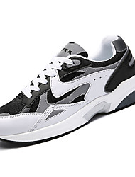 cheap -Men's Rubber Spring / Fall Comfort Athletic Shoes White / Dark Grey / Black / White
