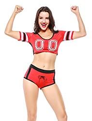 abordables -Vestidos de Cheerleader Enfermera Mujer Festival / Celebración Disfraces de Halloween Negro Rojo Verde Azul Retazos Uniforme Sexy Sensual