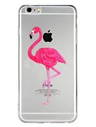 billige -Etui Til Apple iPhone 7 / iPhone 6 Gennemsigtig / Præget / Mønster Bagcover Flamingo / Dyr / Tegneserie Blødt TPU for iPhone X / iPhone 8 Plus / iPhone 8