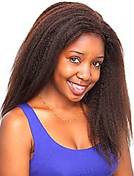 abordables -Cabello humano Encaje Completo Peluca Cabello Brasileño Kinky Curly 130% Densidad Mujer Pelucas de Cabello Natural