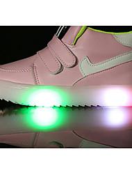 preiswerte -Mädchen Schuhe Kunstleder Frühling Komfort Sneakers für Schwarz / Gelb / Rosa