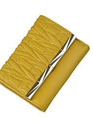 baratos -Mulheres Bolsas Couro de Gado Carteiras Fru-Fru para Compras Casual Todas as Estações Amarelo