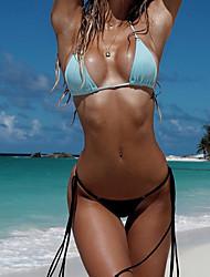 cheap -Women's Halter Triangle Bikini - Solid Colored Thong