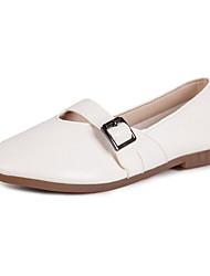 cheap -Women's Shoes PU Spring Summer Comfort Sandals Flat Heel Open Toe for Casual Dress White Black Orange Pink