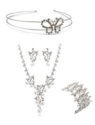 cheap -Women's Jewelry Set - Imitation Diamond Butterfly European, Fashion Include Headwear / Bridal Jewelry Sets White For Wedding / Party