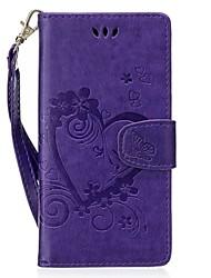 Недорогие -Кейс для Назначение Huawei P9 Lite P8 Lite (2017) Бумажник для карт со стендом Флип Рельефный С узором Чехол С сердцем Твердый Кожа PU для