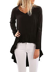 cheap -Women's T-shirt - Solid Colored Classic Style Modern Style