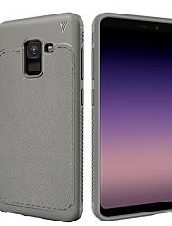 baratos -Capinha Para Samsung Galaxy A8 2018 A8 Plus 2018 Antichoque Áspero Capa traseira Côr Sólida Macia TPU para A8+ 2018 A8 2018