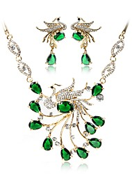 cheap -Women's Gold Plated Bohemian Jewelry Set 1 Necklace / Earrings - Bohemian / Fashion Green Jewelry Set / Bridal Jewelry Sets For Wedding /
