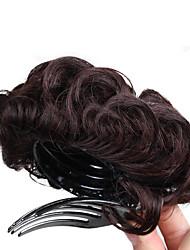 Недорогие -Темно-коричневый Medium Auburn Булочка для волос Updo Шиньоны Кулиска Искусственные волосы Волосы Наращивание волос