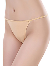 cheap -Women's Sexy G-strings & Thongs Panties Solid Color Mid Waist